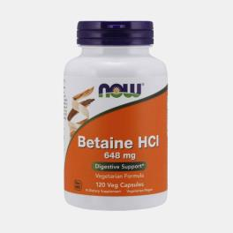 BETAINE HCL 648mg 120 CAPSULAS
