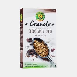 A GRANOLA+ CHOCOLATE E COCO CEM POR CENTO 350g