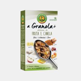 A GRANOLA+ FRUTA E CANELA CEM POR CENTO 350g