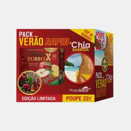 PACK TURBO X 30 AMP + CHAPA BARRIGA CHIA 30 CAPS