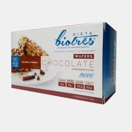 BIOTRES WAFERS CHOCOLATE 3 UNIDADES 42g