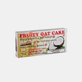 BARRA FRUITY OAT CAKE COCO 80g
