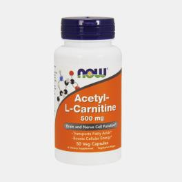 ACETYL L-CARNITINE 500mg 50 CAPSULAS NOW